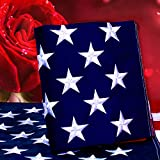 Kerothen American Flag 3x5 USA Flag - Made in USA Outdoor Us-Flags Large Sewn Nylon American Flag with Embroidered American Flag Outside Hanging Weatherproof Standard American Flag