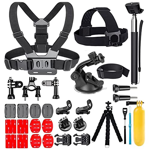 YEHOLDING 25-en-1 Accesorios para Gopro Kit de accesorios para cámara de acción para GoPro Hero 10 9 8 Max 7 6 5 4 3 SJ4000 y otras cámaras para el deporte