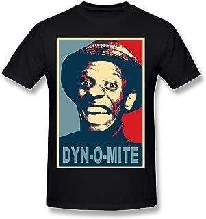 Macwe Man Good Times Jimmy Walker Dynomite Adult Satire Funny Cool Short T Shirts Tee Black