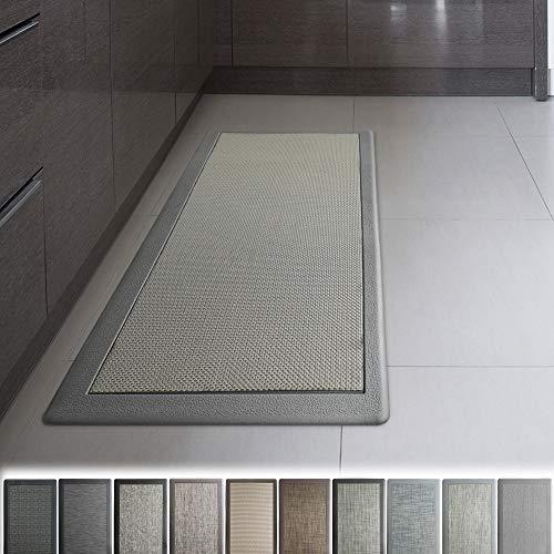 iCustomRug Ergonomic Anti Fatigue Mat, for Comfortable Standing in Kitchen, Bathroom, Workstation Memory Foam Mat in Grey 39'×20'×0.75' (L×W×H)
