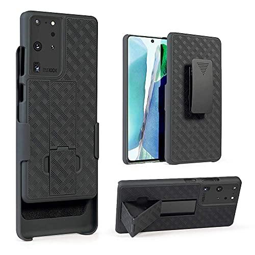 CBUS – Funda Antigolpes con Pinza para Cinturón 180 Grados y Función Soporte. Compatible con Samsung Galaxy S21 Ultra (Negro)