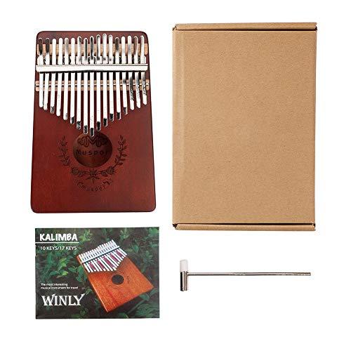 17 Teclas Kalimba Thumb Piano Regalos de Piano de Dedo Portátiles para Principiantes de Niños Y Adultos