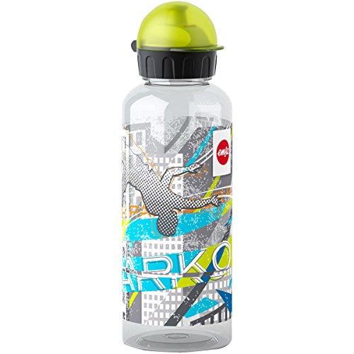 Emsa Kinder-Trinkflasche, 600 ml, Sicherheitsverschluss, Teens Parcours, Tritan, 518133