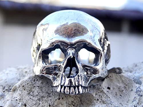 Sterling Silber 925 Poliert Totenkopf Ringe Schmuck Schädel Herren Handgemacht Juwelen