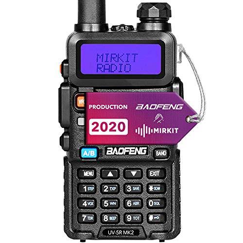 Baofeng UV-5R MK2 2020 Handheld Dual Band Two Way Ham Radio, Mirkit Edition USA Warranty + Software