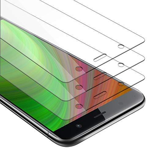 Cadorabo 3X Panzerglasfolie für Sony Xperia XZ2 Premium - Schutzfolie in KRISTALL KLAR - 3er Pack Gehärtet (Tempered) Bildschirmschutz Glas in 9H Festigkeit mit 3D Touch Kompatibilität