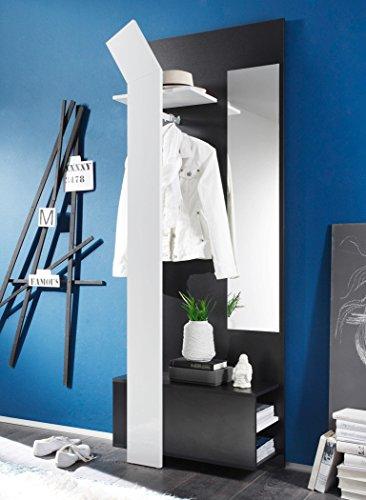 expendio Smart Garderobe, MDF/Spannplatte, schwarz, 33 x 75 x 200 cm