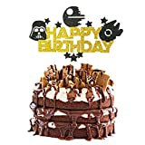 Glitter Star Wars Cake Topper for Children Birthday Party Decorations, Alien War Themed Party