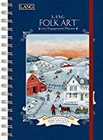 Lang 2017 Lang Folk Art Spiral Engagement Planner, 6 x 9 inches (17991011086) by Lang