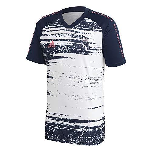 Adidas Real Madrid T-Shirt, Saison 2020/21, offizielles Lizenzprodukt, für Erwachsene L weiß