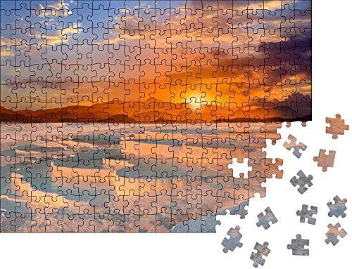 Clásico Puzzle Decoración Hermoso amanecer y terrazas y piscinas de travertino natural, Pamukkale, Turquía Wooden Jigsaw Puzzles Classic Rompecabezas de Juguete-300 piezas