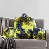 JILLCHE Bed Reading Pillow W/ Unique Camo Design, Fluffy Lounge Cushion with...