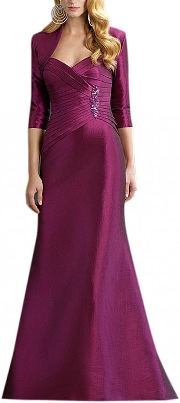 Dearta Women's Sheath Sweetheart FloorLength Taffeta Social Ocassion Dresses