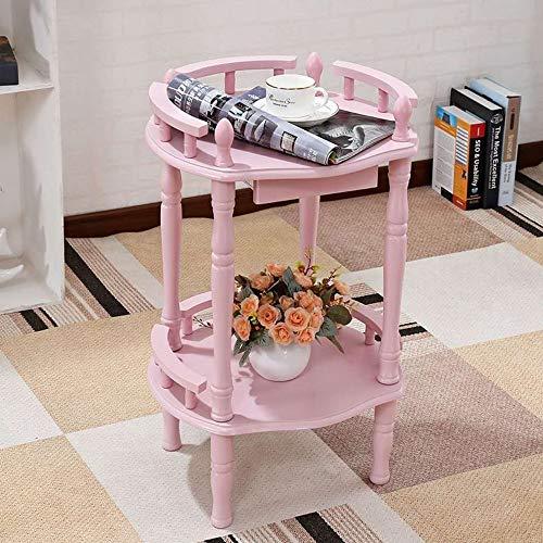KEKOR Mesa de café pequeña mesita de noche, mesa redonda, sala de estar, balcón, mesa de café, mesa de teléfono, mesa redonda, 69 x 40 cm, muebles de salón (color: A)