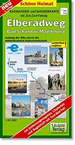 Radwanderkarte Elberadweg Bad Schandau -...