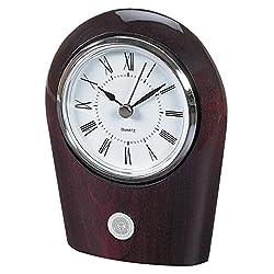 NCAA Auburn Tigers Adult Palm Clock, One Size, Silver