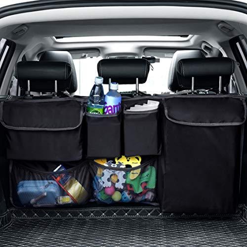 PewinGo Organizer Auto Portaoggetti Serve a Tenere in Ordine L'auto, Grande Capacità e Facile da Pulire - Accessorio Multiuso per il Carico per SUV, Hatchback, Crossover, Minivan, Jeep - Nero