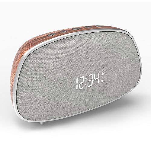 Bluetooth Speaker, Dual Alarm Clocks Snooze Muilti-Function, Stereo...