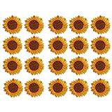 20 piezas parche bordado DIY ropa apliques girasol patrón coser en hierro...