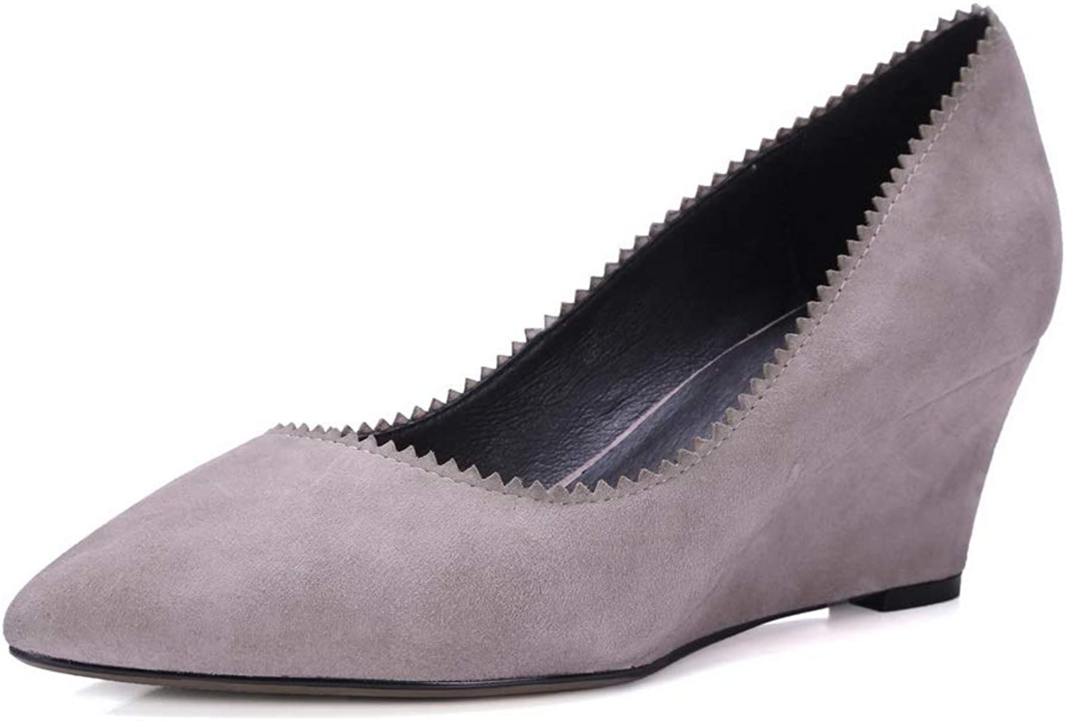 AN Womens Wedges Pointed-Toe Imitated Suede Pumps shoes DGU00932
