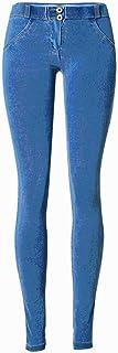 YANGPANGZI Pantalones de Cadera con elevación de melocotón Populares Fitness Master con los mismos Pantalones de Mezclilla...