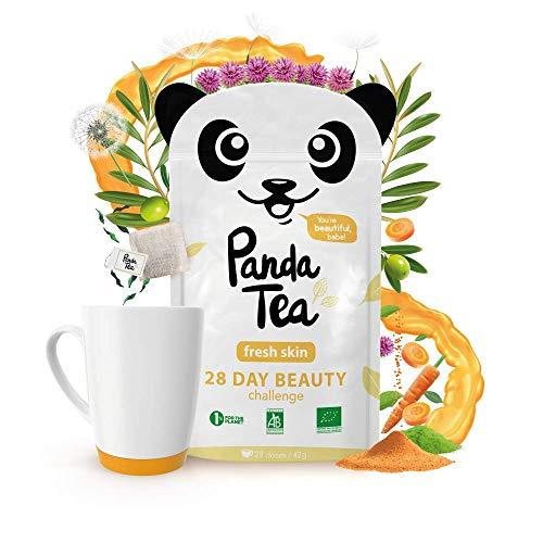 Panda TeaFresh Skin - Té biológico, 28bolsas de algodón sobrehilado a mano
