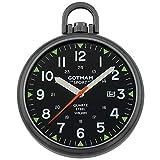 Gotham Men's Sport Series Gun-Plated Stainless Steel Analog Quartz Date Pocket Watch # GWC14109BBK