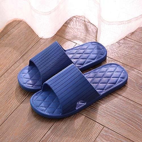 B/H Sandalias de baño Antideslizantes,Verano Sandalias y Zapatillas de PVC Mujer, Zapatillas de baño Antideslizantes-Royal Blue 9_40-41,Zapatillas de Ducha para Mujer EVA