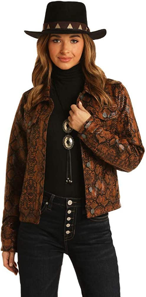 Rock N Roll Cowgirl Womens Snake Print Jacket