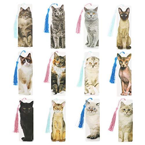 Tassel Bookmark, Cat Breed Designs (72 Pack)