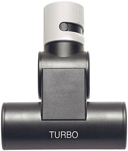Siemens Polsterbürste Turbo VZ46001, für Staubsauger, Turbobürste, ideal für Tierhaare, Flusen und Fasern, für Handstaubsauger der Reihe VR 4 nur mit Adapter VZ 41010, schwarz