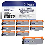 (9-Black) TN660 High Yield TonerCartridge CompatibleReplacementforBrother HL-L2300D L2305W MFC-L2680W L2685DW DCP-L2520DW L2540DW Printers TonerCartridge.