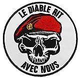 topt mili ecusson Para Parachutiste Legion Beret Vert Rouge Legionnaire armée France...