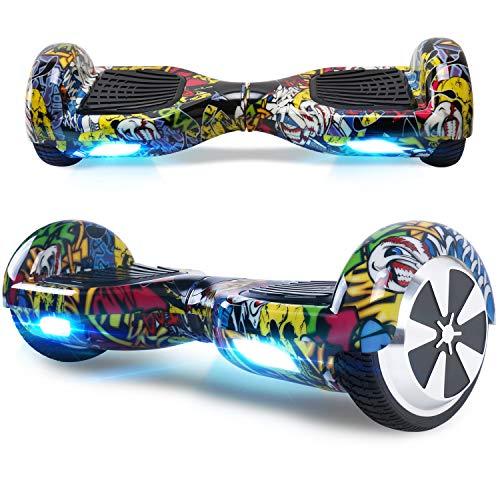 """BEBK Hover Board 6.5"""" Smart Self Balance Scooter Elettrico Autobilanciato con LED, 2 * 350W Motore"""