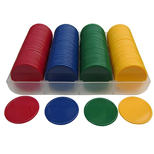 Smartdealspro Set of 160 Opaque 1 1/2 Inch Plastic Counting Counters Poker Chips