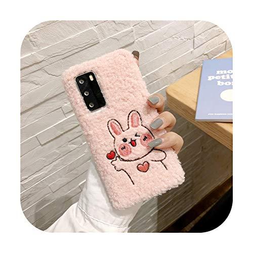 Funda protectora para Samsung Galaxy A10S A30S A21S A40 A50 A70 A90 5G A01 A11 A31 A41 A51 A71 A81 M31 M51 Cute Rabbit Bear de peluche, color rosa