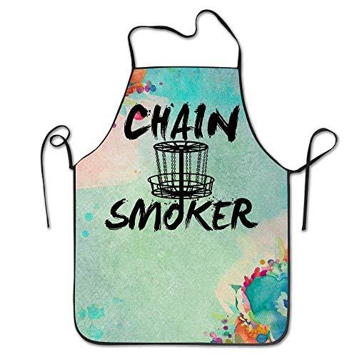 Fs2A1X Funny Apron Chef Kitchen Cooking Apron Bib Chain Smoker Frisbee Golf