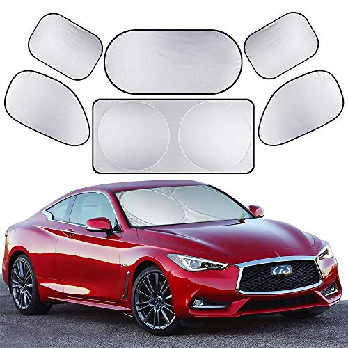 Car Roller Sunshade Deluxe Set of 2 Kids Elephant Retractable Car Window Sunshade Black Roller for Neat Look When not in use Blocks Sun /& Keeps Car Cool