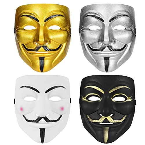ARCADORA Hacker Mask V for Vendetta Mask for Kids Women Men Halloween Costume Cosplay