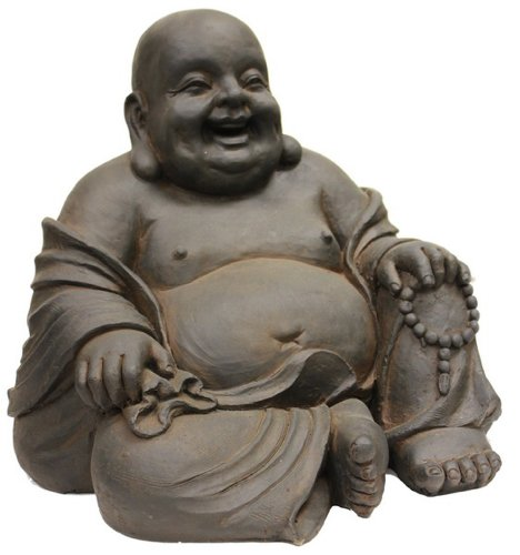 Hi-Line Gift Ltd Happy Sitting Buddha Statue, 165-Inch