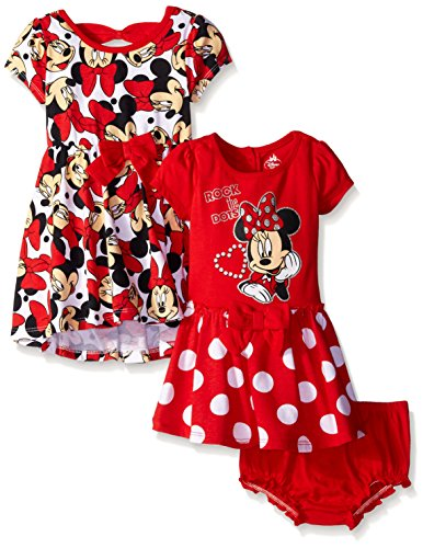 Disney Baby Girls Minnie Mouse Rock The Dots Dresses (Pack of 2)