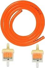 39 Inch Fuel Gas Line Tubing Hose 1/4 IDx5/16 OD with Gas Inline Fuel Filters for ATV Dirt Bike Go Kart Moped Pocket Bike (Orange)