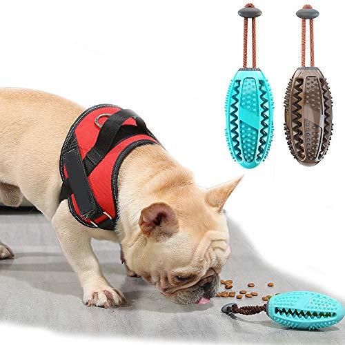 PET SPPTIES 2PCS Haustier Bürstender Stock Hunde Zahnen Kauspielzeug Hundespielzeug Bürsten und Kauspielzeug für Haustiere Mundpflege PS066 (M, Lake Blue + Chocolate)