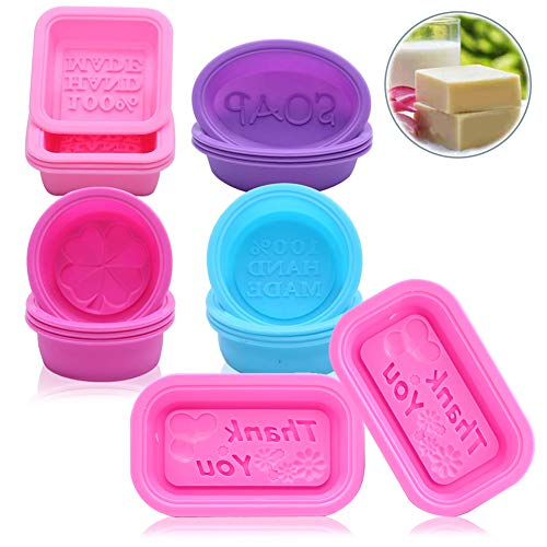 SIMUER - Molde de silicona con 6 cavidades, forma de jabón, molde para tartas, molde para chocolate, galletas, cubitos de hielo