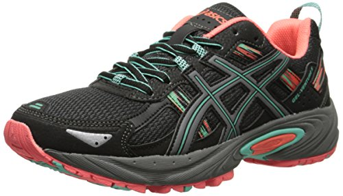 ASICS Women's Gel-venture 5 Running Shoe, Black/Aqua Mint/Flash Coral, 7 M US
