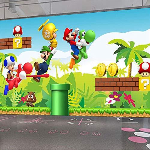 3d Tapete Fototapete Hintergrund-TapetenBenutzerdefinierte Größe Wallpaper für Kinderzimmer Super Mario Animation 3D-Wandbilder für Wohnzimmer Sofa Modernes Kinderzimmer Tapete 3D-About200 * 140cm