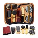 Yuui Kit de cuidado de zapatos para el cuidado de zapatos de viaje, herramientas de limpieza de zapatos de cuero