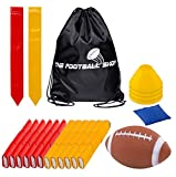 Flag Football 12 Players 3 Flags Adult Kids Youth Set 55 Pieces With Football