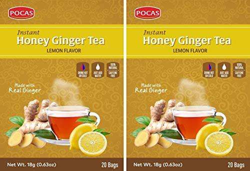POCAS HONEY GINGER TEA WITH LEMON 40 BAGS