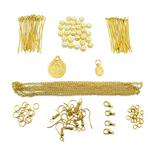 Toaob, kit di gioielli per principianti, per collane, bracciali, orecchini fatti a mano Oro